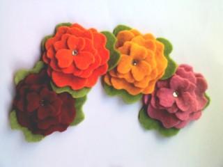 petunias de colores