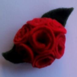 bouquet rojo desde arriba