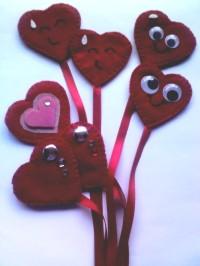 ramo de corazones marcapáginas